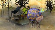Smokey Moon Jump sign next to Cuyler House