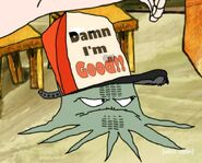 Early Cuyler with tire marks on his face