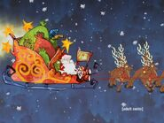 Santa's sled and reindeer