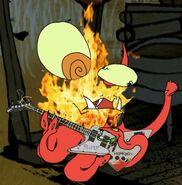 Squid Satan playing the guitar