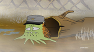 Rusty being protrayed as Jefferson Cuyler in the reenactment