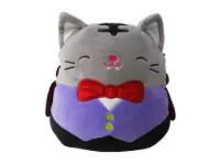 A photo of a cat plushie.