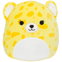 A photo of a yellow cheetah plush.