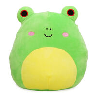 A photo of a frog plushie.