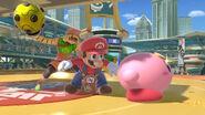 Mario Min Min and Kirby