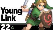22 Young Link – Super Smash Bros