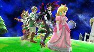 Princess peach bayonetta link and fox mccloud by user15432-daizypz