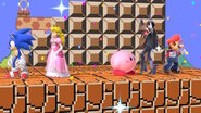 Mario Peach Sonic Bayonetta and Kirby
