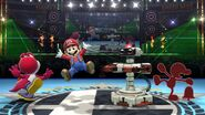 Red Game and Watch, Red R.O.B. (Robotic Operating Buddy), Red Mario, and Red Yoshi