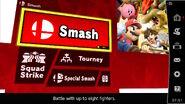 SSBU Smash menu screen