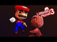 Little Big SMASH - Sackboy vs Super Mario - LittleBigPlanet 3 PS4 Gameplay - EpicLBPTime-2