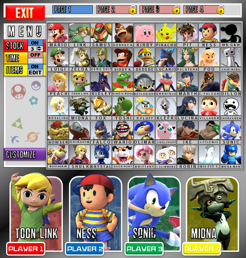 Avery FireFlame/Avery's SSB5 Fantasy Roster