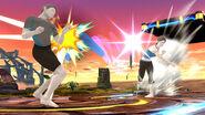 Entrenadora de Wii Fit lanzando el Búmeran SSB4 (Wii U)