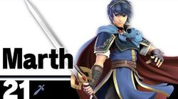 21 Marth – Super Smash Bros