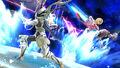 Shulk atacando a Corrin en Mario Galaxy SSB4 (Wii U)