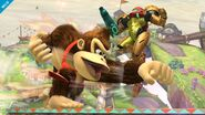 Donkey Kong Atacando SSB4 (Wii U)
