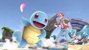 Entrenador Pokémon y Squirtle en el Campo de batalla SSBU