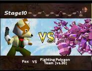 Fox vs equipo de polígonos luchadores SSB