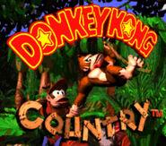 Pantalla de titulo de Donkey Kong Country