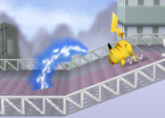 Pikachu usando rayo SSB