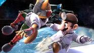 Dr. Mario y Fox en la Estación espacial SSB4 (Wii U)