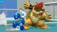 Mega Man, Bowser y entrenadora de Wii Fit SSB4 (Wii U)