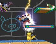 Pikachu usando Trueno SSBB