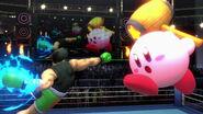 Kirby y Little Mac en el Cuadrilátero SSBU