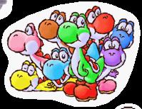 Lista de pegatinas de SSBB (Yoshi)