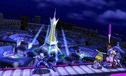 Sheik, Toon Link, Pit y Marth en la Torre Prisma SSB4 (3DS)