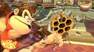 Abejas atacando a Doney Kong SSB4 (Wii U)