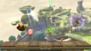 Kirby, Yoshi, Donkey Kong y Samus en Altárea (versión Destino Final) SSB4 (Wii U)