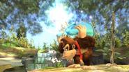 Estela dando ordenes al Destello aún estando agarrada SSB4 (Wii U)