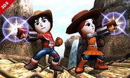 Dos Miis Lanzadores en el Valle Gerudo SSB4 (3DS)