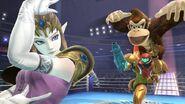 Zelda, Donkey Kong y Samus en el Ring de boxeo SSB4 (Wii U)
