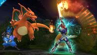 Roy usando Golpe critico SSB4 (Wii U)