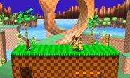 Zona Green Hill versión omega SSB4 (3DS)