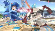 R.O.B. atacando a Mega Man en Campo de batalla SSBU