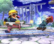 Wario usando Nintendo Scope SSBB