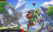 Link usando la Superhoja SSB4 (3DS)
