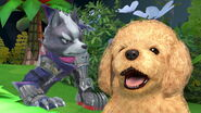 Wolf y Nintendog en Super Smash Bros. Ultimate