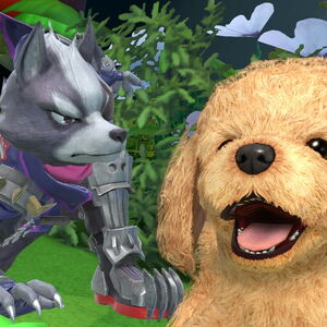 Wolf y Nintendog en Super Smash Bros. Ultimate.jpg