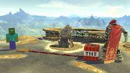 Zombi a punto de utilizar dinamita contra Ganondorf SSBU