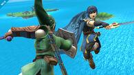Marth y Link en la Isla de Pilotwings - (SSB. for Wii U)