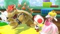 Bowser y Peach en 3D Land SSBU