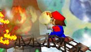 Mario usando una flor de fuego SSB
