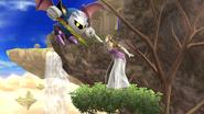Meta Knight y Zelda en Altarea SSB4 (Wii U)