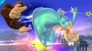 Estela haciendo un ataque aéreo SSB4 (Wii U)