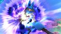 Lucario usando esfera aural en SSB4 (Wii U)