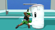 Saco de arena siendo atacado por Little Mac SSB4 (Wii U)